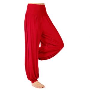 מכנסי יוגה אדומים לנשים