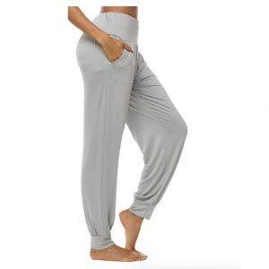 מכנסי יוגה ארוכים לנשים אפור