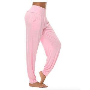 מכנסי יוגה ארוכים לנשים ורוד